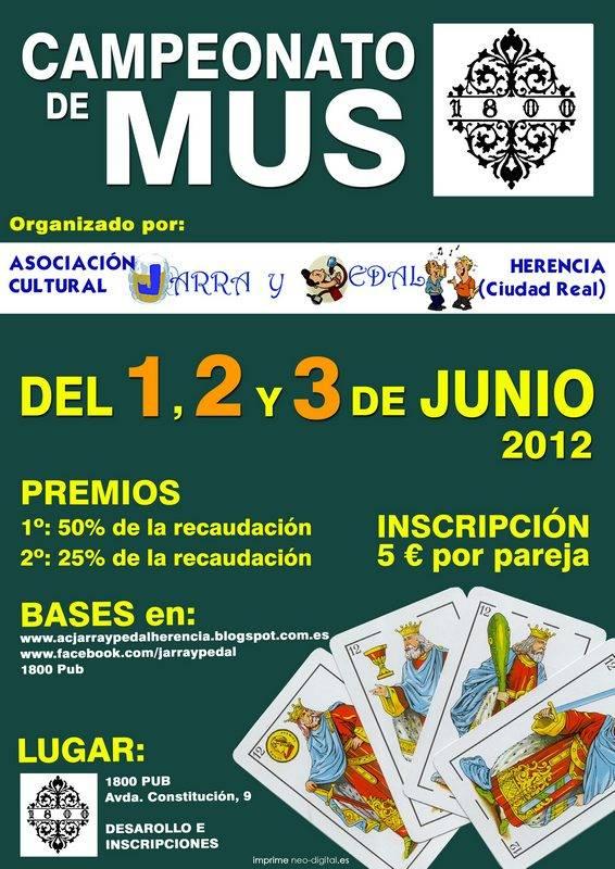Cartel Mus 1800 Herencia - Abierta la inscripción para el Cameponato de Mus