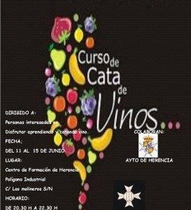 Cartel curso cata de vino Herencia