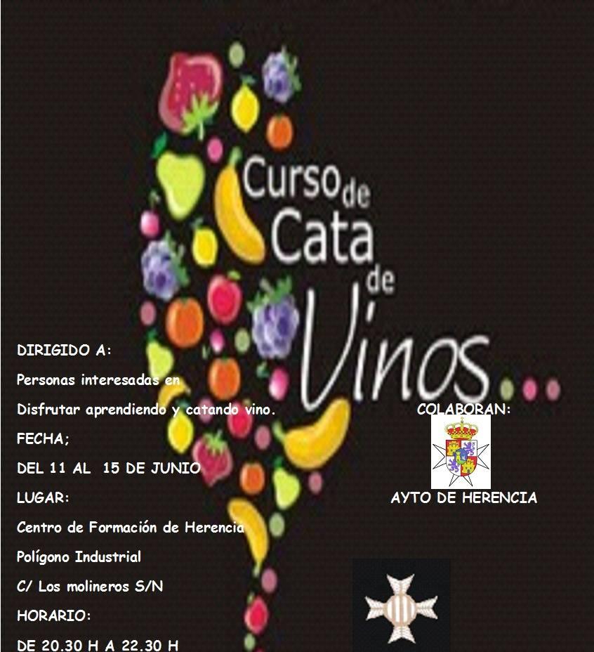 Cartel curso cata de vino - Curso de Iniciación a la Cata de Vinos