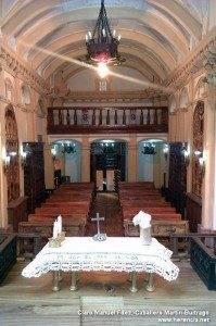 Interior de la maqueta de la iglesia parroquial de Jesús Fdez-Hijicos