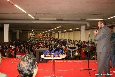 Intervencion alcalde Herencia 465x310 - Resumen de la participación del Carnaval de Herencia en la VI Feria de las Américas