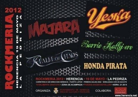 cartel de la rockmeria herencia 2012