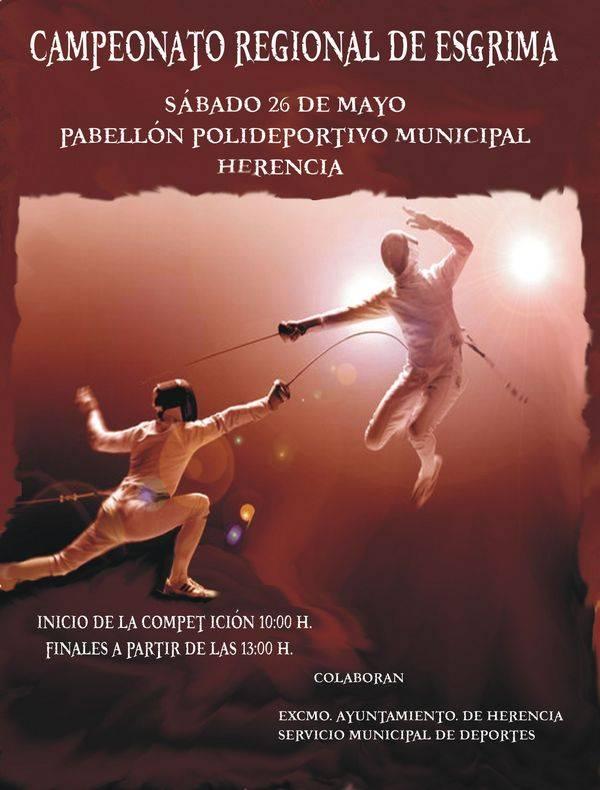 Cartel cameponato regional de esgrima en Herencia