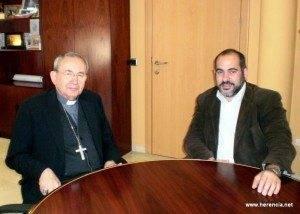 herencia obispo 300x214 - El obispo de Ciudad Real se entrevistó con el alcalde de Herencia durante su visita pastoral