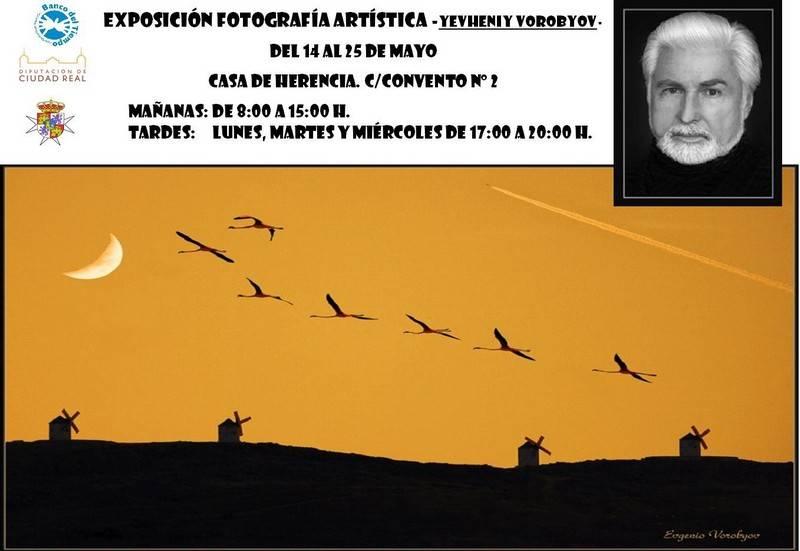 Cartel de la exposición fotográfica de Yevheniy Vorobyon