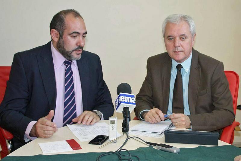 rueda de prensa sobre el plan de empleo provincial en La Mancha
