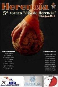 """Cartel V Torneo Balonmano Vilal de Herencia 201x300 - Este sábado se jugará el V Torneo de Balonmano """"Villa de Herencia"""""""