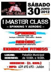 Cartel master class spining y aerobic 212x300 - Primera Master Class de Spinning y Aerobic del gimnasio The Game en Herencia
