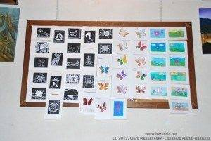 Grabados y dibujos del curso de pintura de la Universidad Popular de Herencia