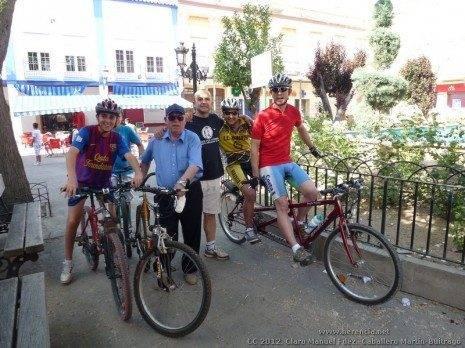 Recorrido urbano de la V Marcha en Bicicleta contra el Cáncer