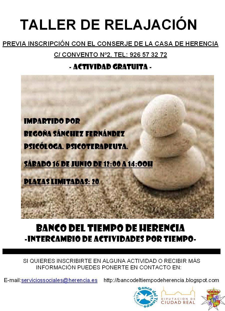 cartel TALLER DE RELAJACIÓN - Taller de relajación