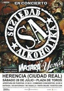 image 212x300 - Soziedad Alkoholika, Majara y Yeska en concierto en Herencia