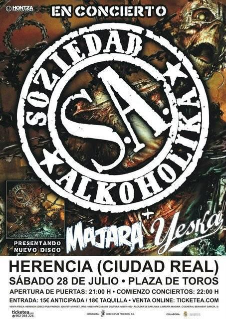 Cartel del Concierto de S.A. en Herencia