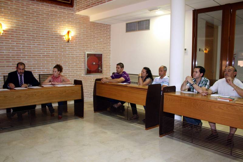 Grupo municipal socialista de Herencia durante un pleno