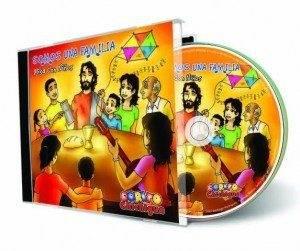 """portada disco somos una familia 300x251 - """"Somos una familia"""", disco del Corito Chichigua con letras de Santiago Rodríguez e ilustraciones de Jesús Cobos"""
