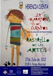 Cartel Maraton IX Maraton de Cuentos y Rastrillo de las Artes de Herencia 2012
