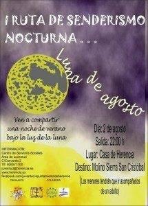Cartel_Juventud_Ruta_Senderismo_Nocturna_Herencia luna de agosto