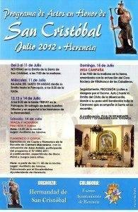 Cartel San Cristobal Herencia 2012 195x300 - Programa de Actos en Honor a San Cristóbal