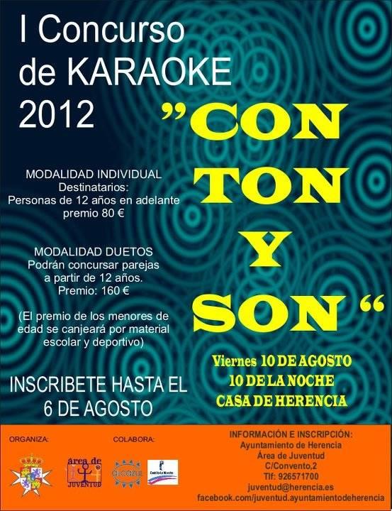 I concurso de Karaoke Juventud - Con ton y Son. I Concurso de Karaoke 2012