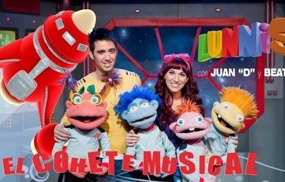 Juan D y Beatriz Ciudad Arco Iris en El Cohete Musical con los Lunnis