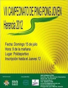VII Campeonato ping pong joven 232x300 - VII Campeonato Veraniego de Ping-Pong Joven de Herencia
