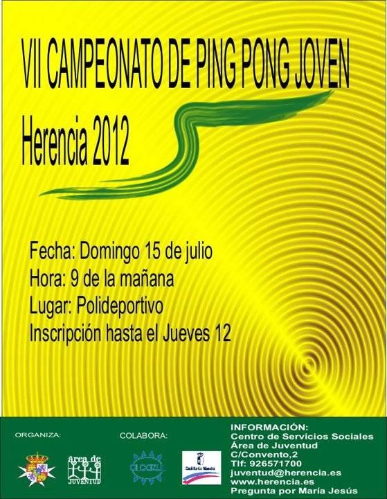 VII Campeonato ping pong joven - VII Campeonato Veraniego de Ping-Pong Joven de Herencia