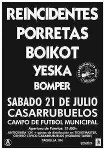concierto Yeka 21 de julio en Casarrubuelos 210x300 - Suspendido el concierto de Yeska en Casarrubuelos