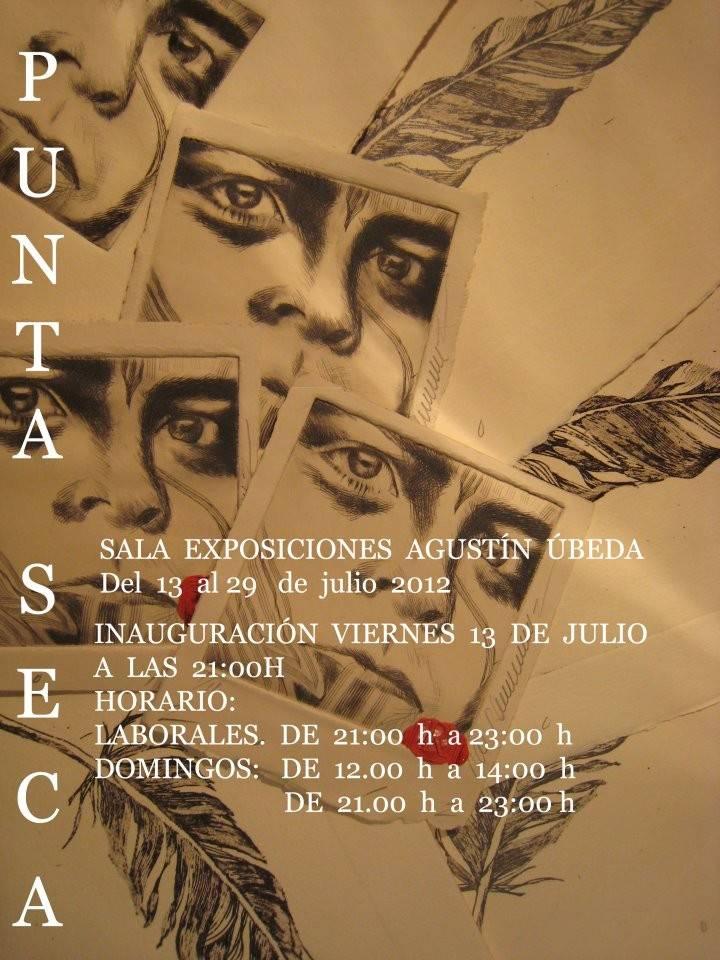 """Cartel de la exposición de José Raúl Ramírez """"El David de Punta Seca y Nogalina"""""""