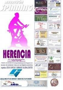Cartel Maratón de Spinnig de Herencia