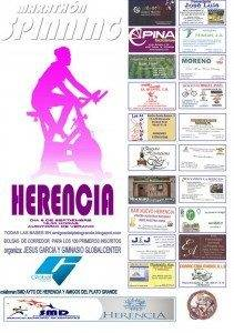 Cartel Marat%C3%B3n de Spinnig de Herencia 211x300 - Gran maratón de Spinning en Herencia