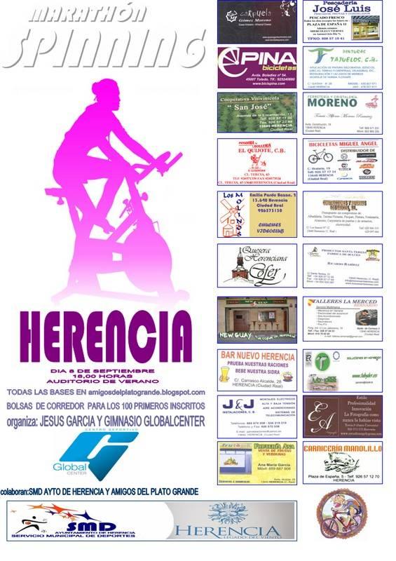 Cartel Maratón de Spinnig de Herencia - Gran maratón de Spinning en Herencia