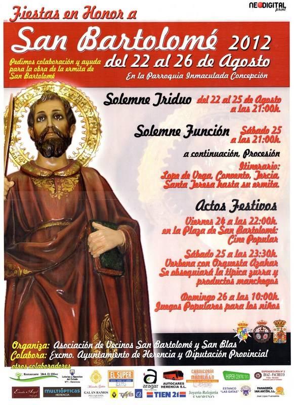 Fiestas en honor a San Bartolomé 2012 - Fiestas en honor a San Bartolomé 2012