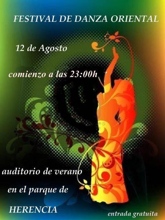 espectáculo de danza oriental en Herencia