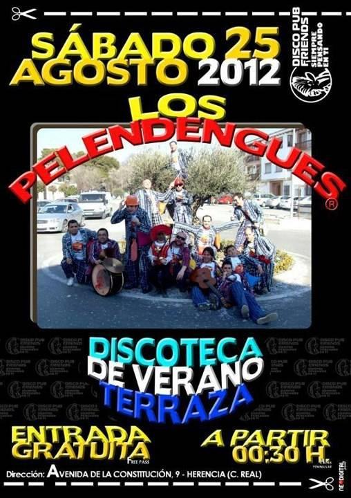 Los Pelendengues actúan este sábado en disco Friends 2