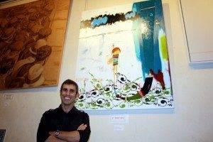 """Primer premio """"Villa de Herencia"""" 2011 junto a su autor"""