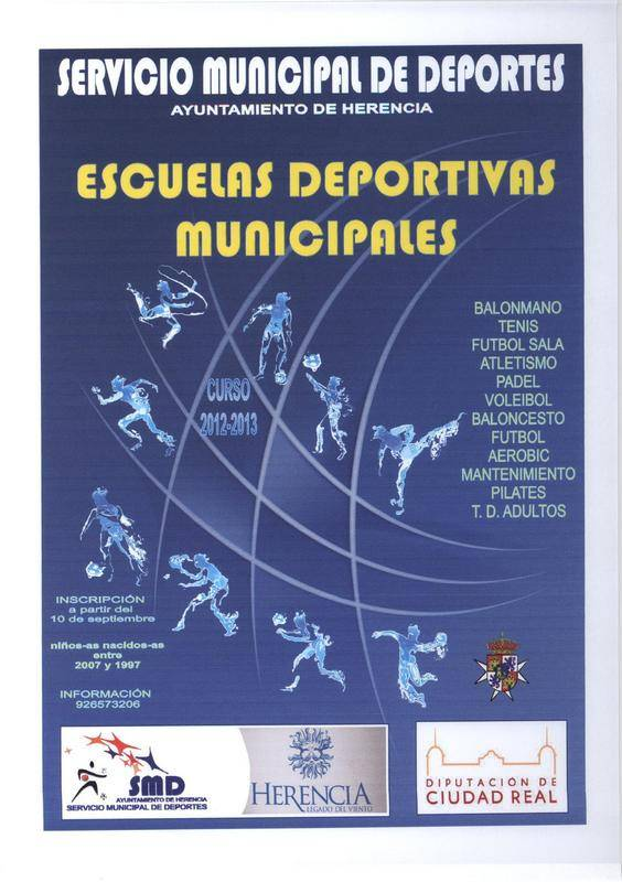 Cartel escuelas deportivas curso 2012-2013