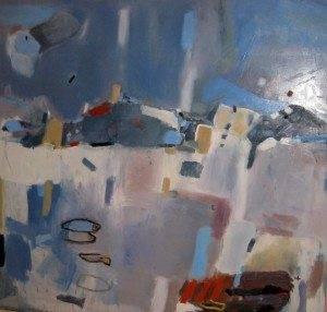 Peces de Ciudad Obra de Jos%C3%A9 %C3%81ngel Mart%C3%ADn Viveros 300x286 - José Ángel Martín-Viveros gana el segundo premio del XVI Certamen Internacional de Pintura 'Ciudad de Alcázar'