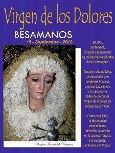 VIRGEN DE LOS DOLORES 225x300 - Besamanos de la Virgen de los Dolores