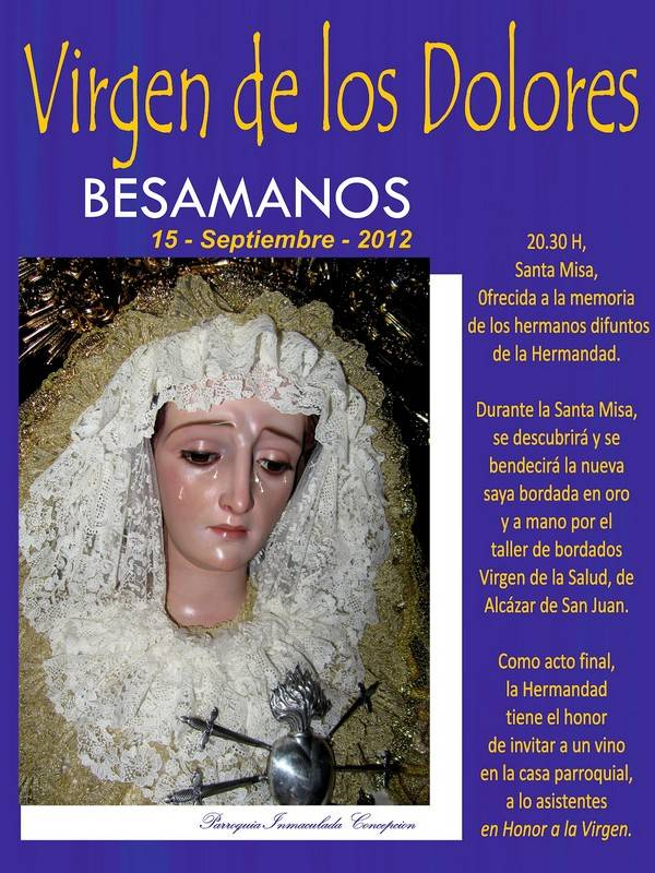 VIRGEN DE LOS DOLORES - Besamanos de la Virgen de los Dolores