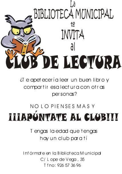 club lectura herencia - Abierto el plazo de inscripción para los Clubes de Lectura