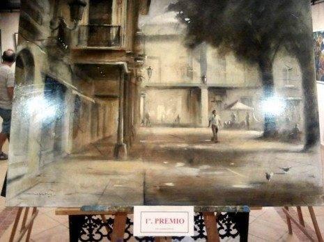 """herencia pintura rapida 1 premio 465x348 - Javier Martín Aranda gana el VI Certamen de Pintura Rápida """"José Higueras"""""""