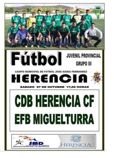 Futlbol juvenil Herencia - En la segunda parte, salió el sol. Nueva victoria del Herencia Juvenil de fútbol