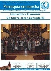 """Nuevo dise%C3%B1o peri%C3%B3dico Parroquia en Marcha 213x300 - """"Parroquia en Marcha"""" el periódico decano de Herencia rediseña su imagen"""