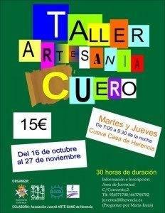 Taller de Cuero Juventud Herencia 232x300 - Juventud organiza un taller de cuero para jóvenes de 12 a 35 años