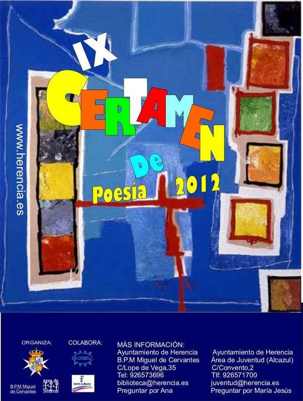 cartel certamen poesia Herencia - Convocado el Noveno Certamen Nacional de Poesía