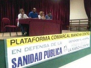 herencia plataforma mesa 300x225 - Celebrado en Herencia un acto de la Plataforma Comarcal en Defensa de la Sanidad Pública