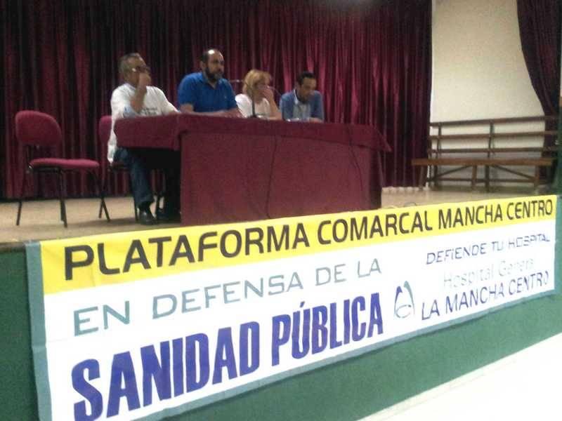herencia plataforma mesa - Celebrado en Herencia un acto de la Plataforma Comarcal en Defensa de la Sanidad Pública