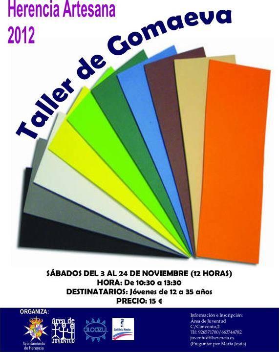 taller goma eva - Abierto el plazo de inscripción para el Taller de Goma Eva del área de Juventud