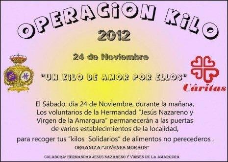 """CARTEL OPERACION KILO 2012 465x331 - Los """"Moraos"""" de Herencia ponen en marcha la Operación Kilo 2012"""
