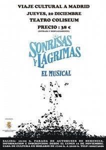 Cartel Musical Sorisas y L%C3%A1grimas 212x300 - Cultura organiza un viaje para ver el musical Sonrisas y Lágrimas